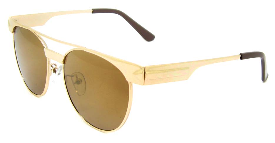 Gold Metal oval retro frame YM-S300-C2