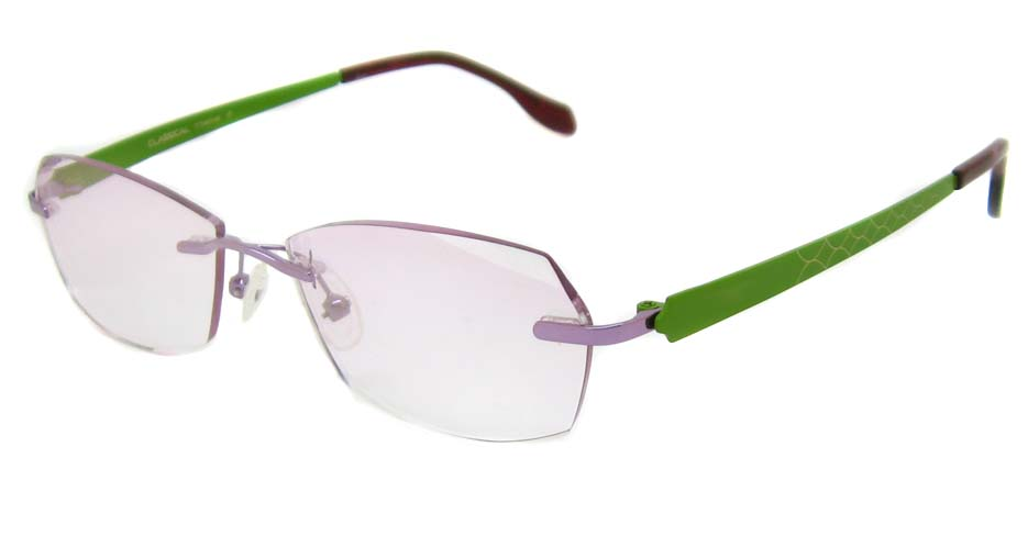 Green with purple  blend glasses frame HD-CL6002-C17