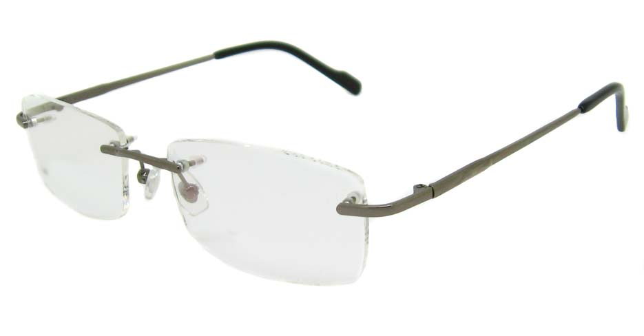 Grey Metal rimless