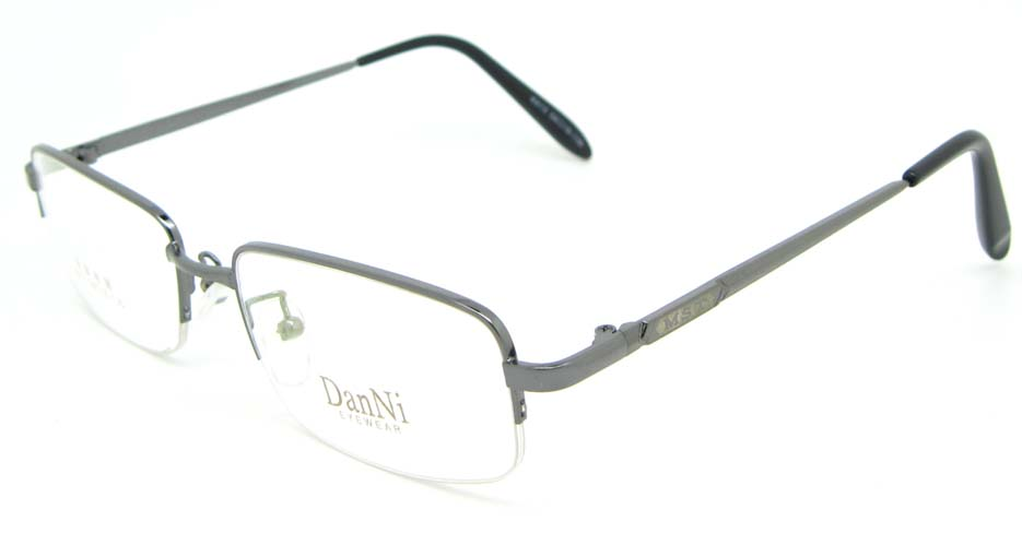 Gun metal rectangular glasses frame WKY-DNI6015-Q