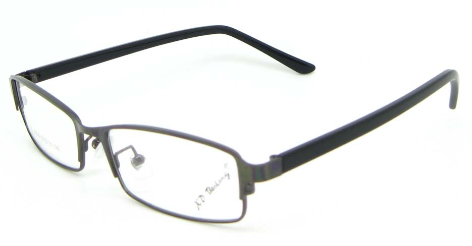 Gun with black blend rectangular glasses frame WKY-XDBL6936-Q