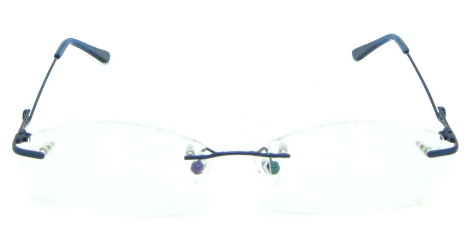 blue metal rimless glasses frame JNY-jiong1199-L