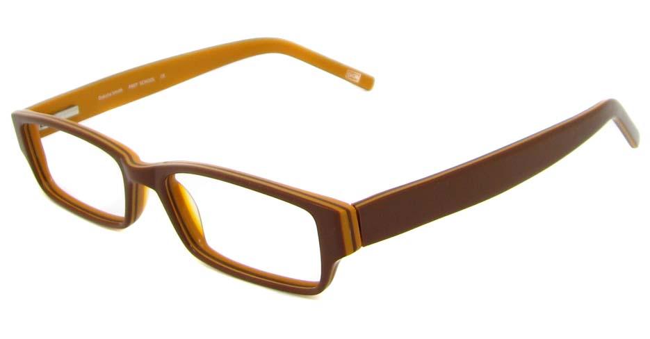 Khaki acetate rectangular glasses frame HL-SCHOOL