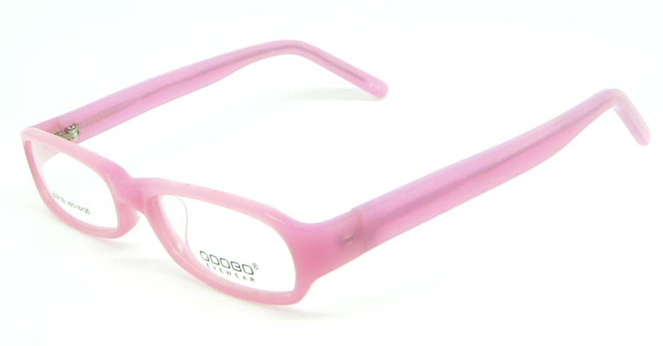 Kids pink rectangle plastic glasses frame JNY-BL6139-C114