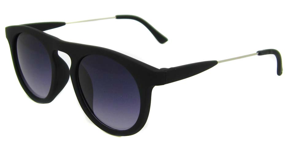 Matte black blend oval retro glasses frame LF-FG006-MSH
