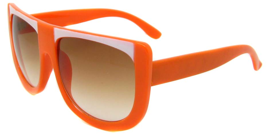 Orange  oval acetate big  retro glasses frame LF-FG004-JBS