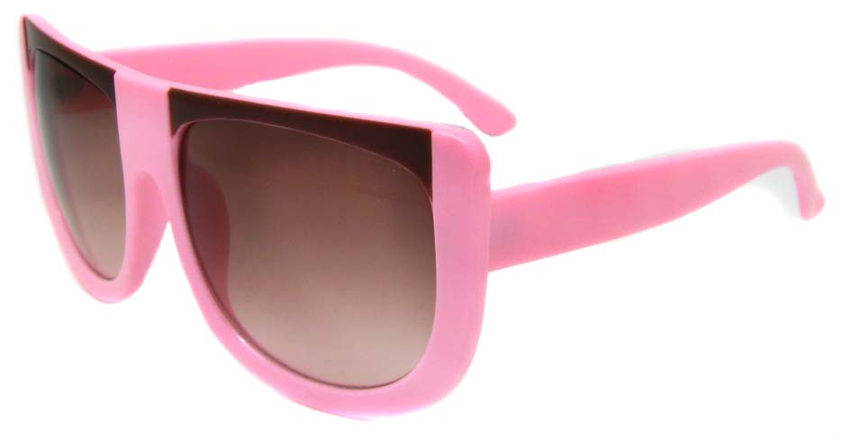 Pink oval acetate big  retro glasses frame LF-FG004-FZS