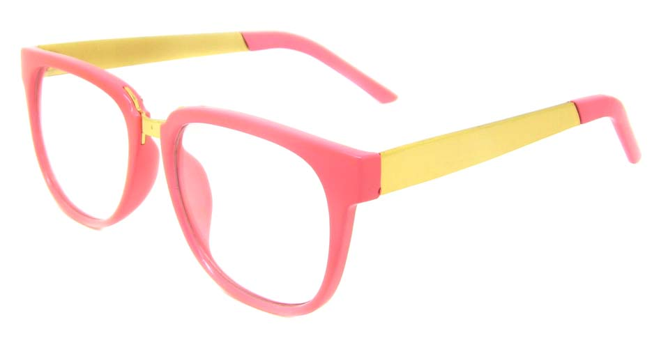 Pink with gold blend Oval retro frame BLK-FG77270-F