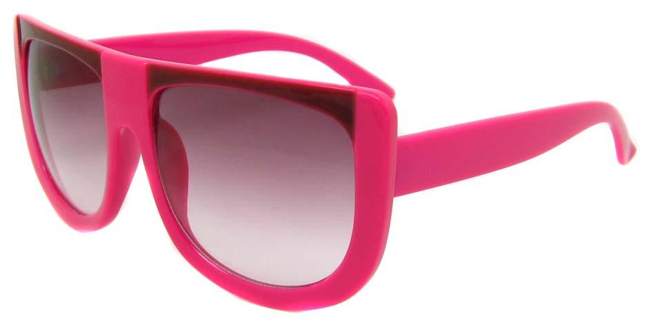 Plump red oval acetate big  retro glasses frame LF-FG004-MZS