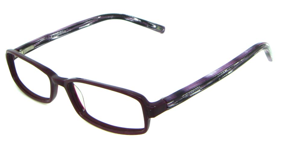 Purple Acetate Rectangle glasses frame HL-JL5464-C
