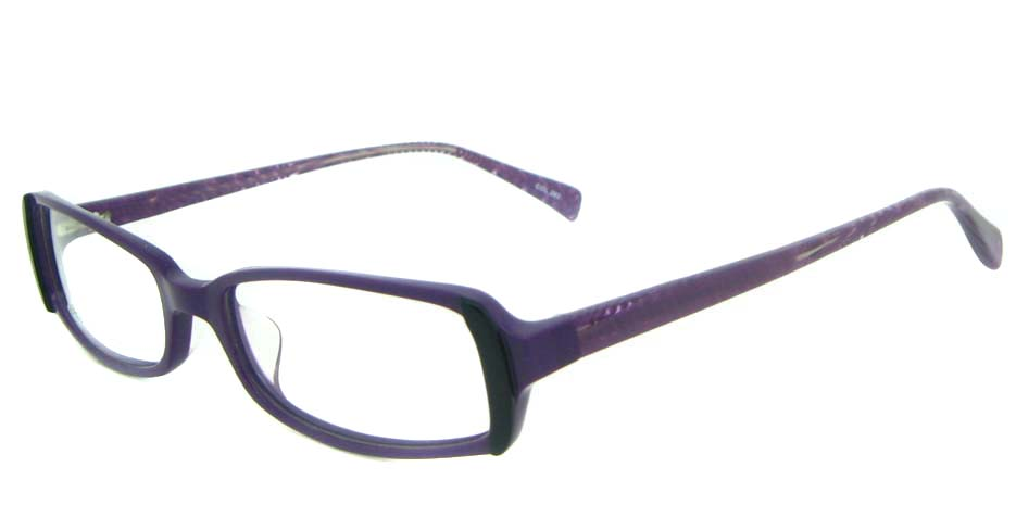 Purple Rectangular Acetate glasses frame YL-JB8180-C263
