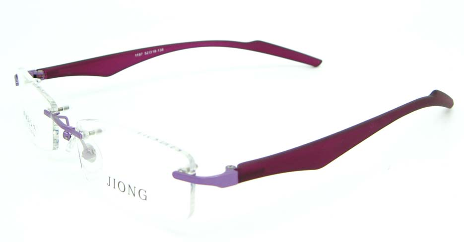 Purple blend rectangular glasses frame  JNY-JIONG1197-Z