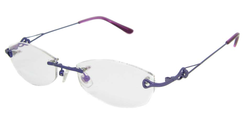 Purple metal cat eye rimless frame YJ-J6602-Z