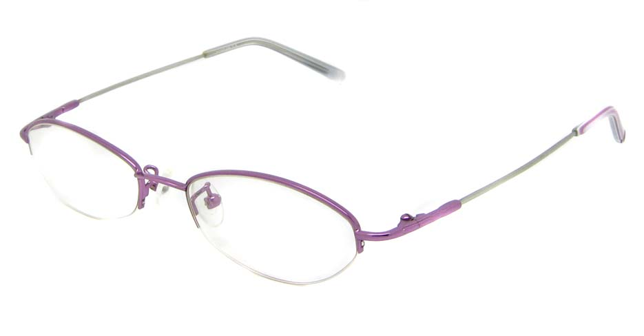 Purple metal oval glasses frame JS-LL9862-Z