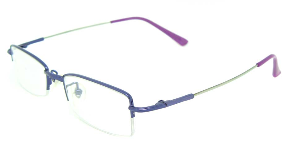 Purple metal oval glasses frame JS-SML9930-z
