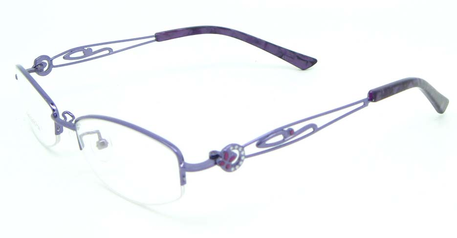 Purple oval metal glasses frame JNY-SSYZ2149-HS