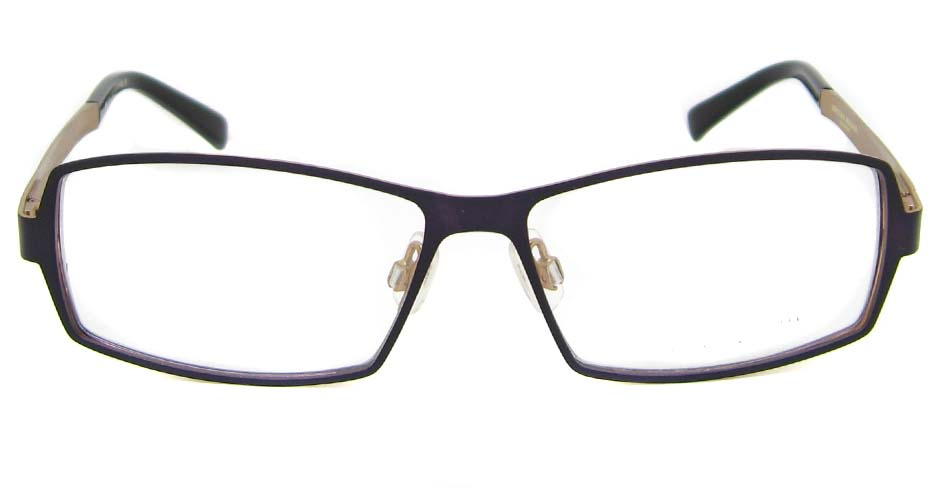 Purple with black and gold  Rectangular blend glasses frame HD-BBO1358-C102
