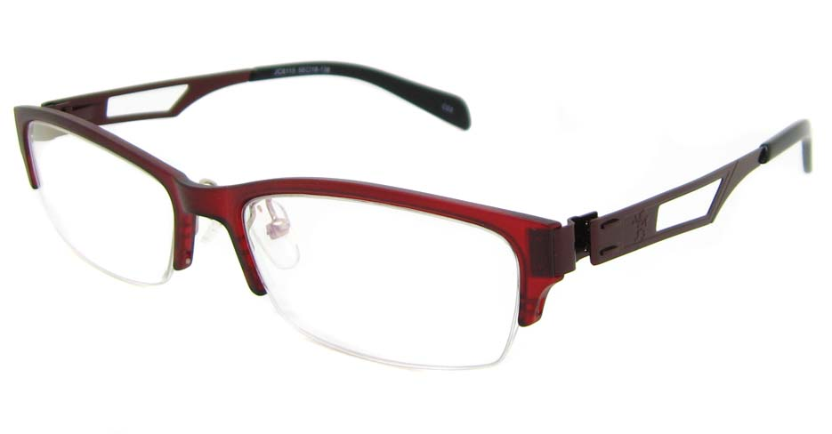 Red Blend oval Glasses frame TD-JC8115-C3