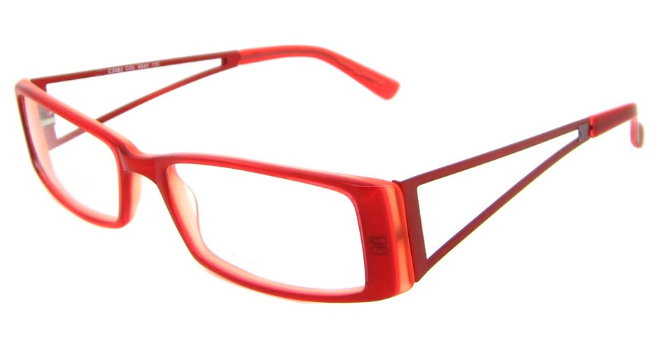 Red plastic Rectangular glasses frame  XL-CP2062-H