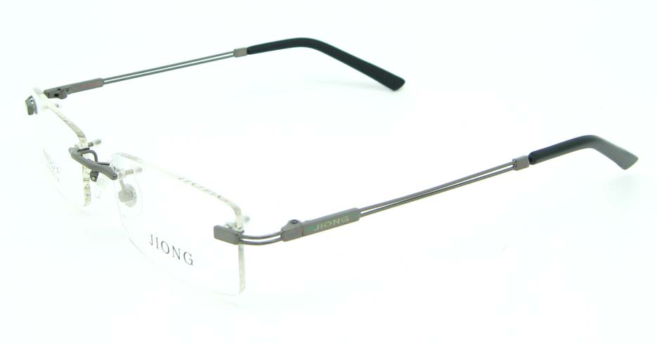 Rimless grey rectangle metal glasses frame JNY-JIONG1105-Q