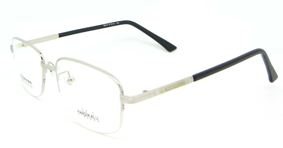 Silver Rectangular metal glasses frame WKY-FKL9818-Y
