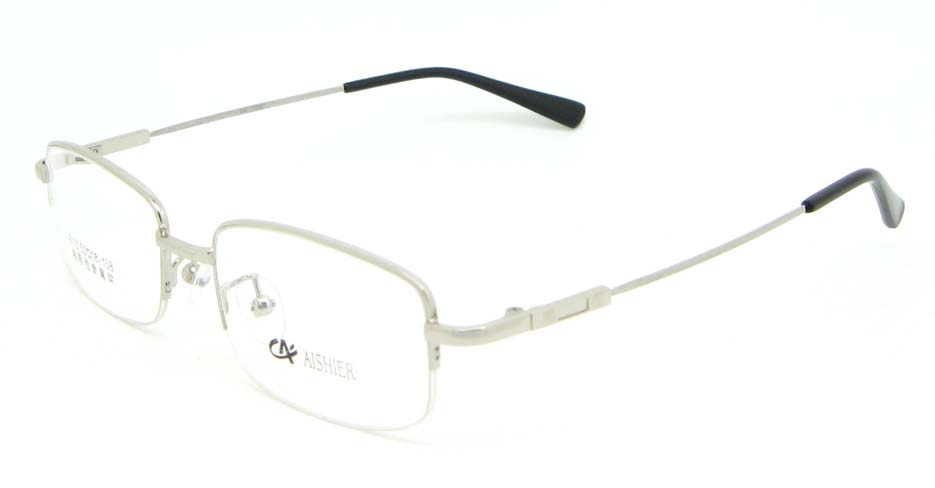 Silver metal Rectangular  glasses frame WKY-ASR8111-Y