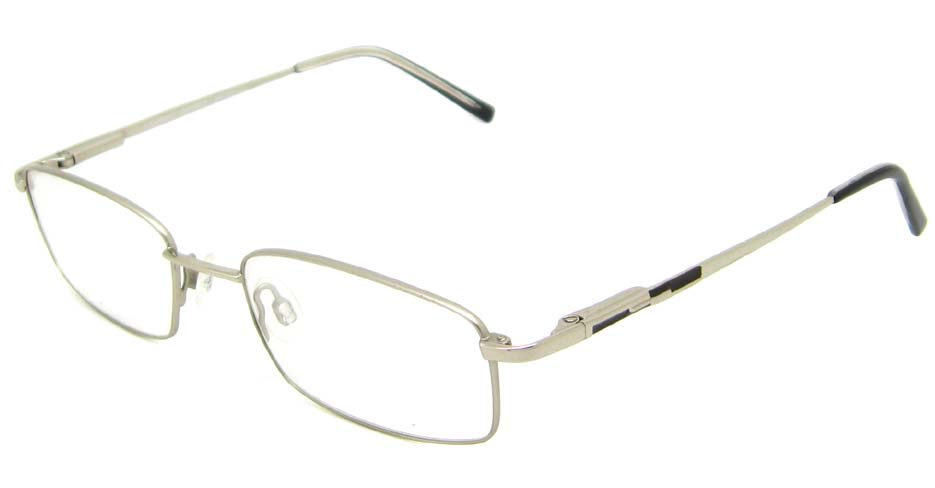 Silver rectangular metal   glasses frame HL-DOLA001-YBS