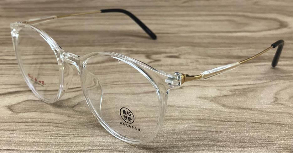 TR  metal blend round clear glasses frame TY-6501-C107