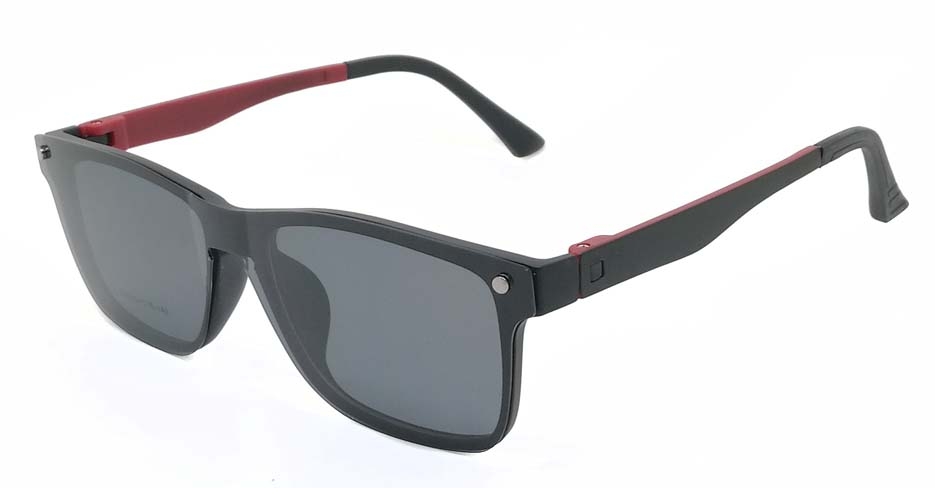 TR Oval Black with Red Polarized