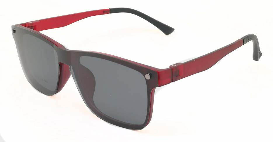 Red Polarized Magnetic Clip on Sunglasses