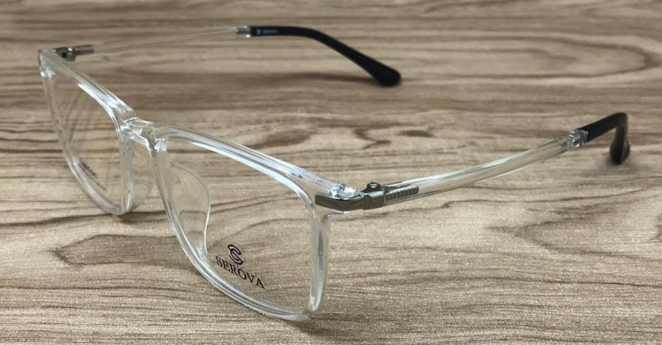 Clear frame glasses for men