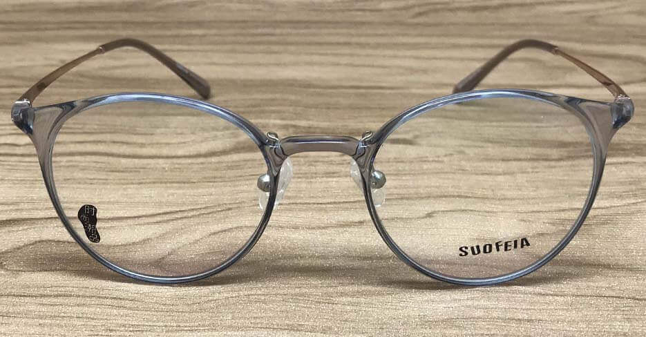 round clear frame glasses