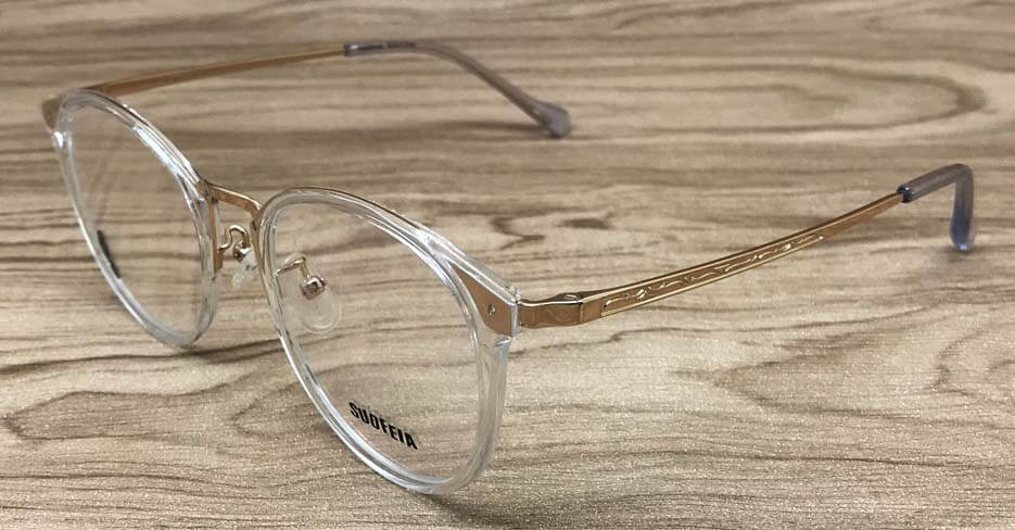 TR metal blend round clear glasses frame SFY-2202-C08