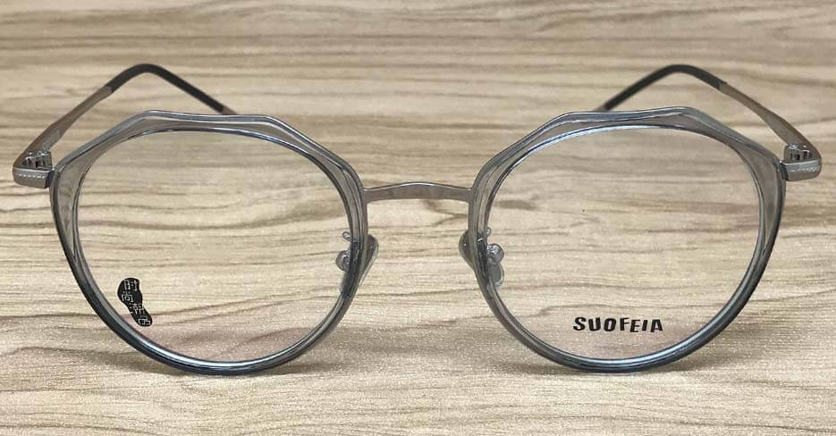 TR metal blend round clear glasses frame SFY-7608-C9