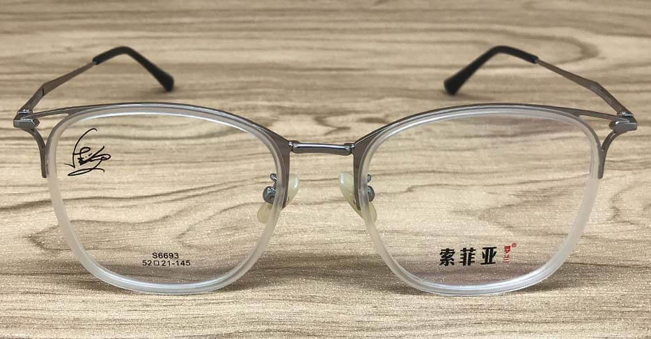 TR metal oval clear glasses frame SFY-6693-C03