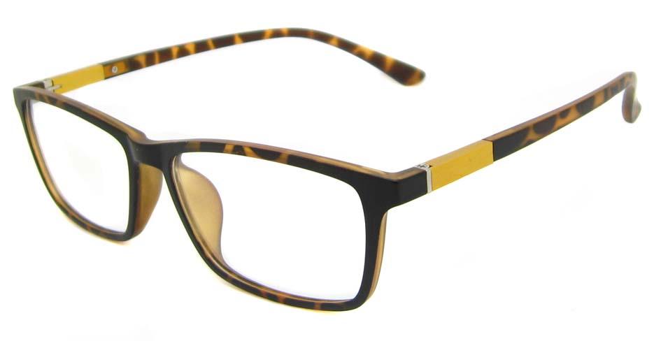 Tortoise Rectangular  TR90 glasses frame TD-MDL0001-GWS