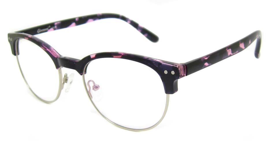 TR90 purple oval glasses frame SM-QDN90055-C3
