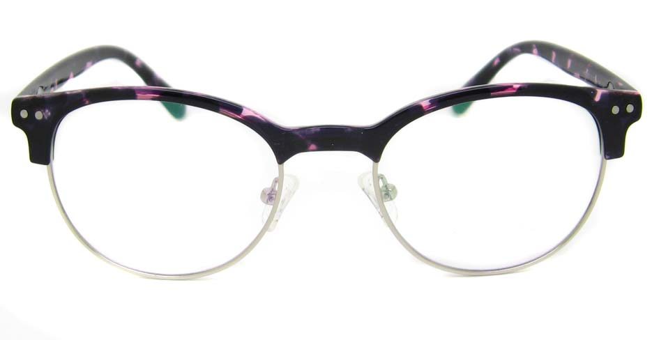 TR90 purple oval glasses frame SM-QDN90055-C3