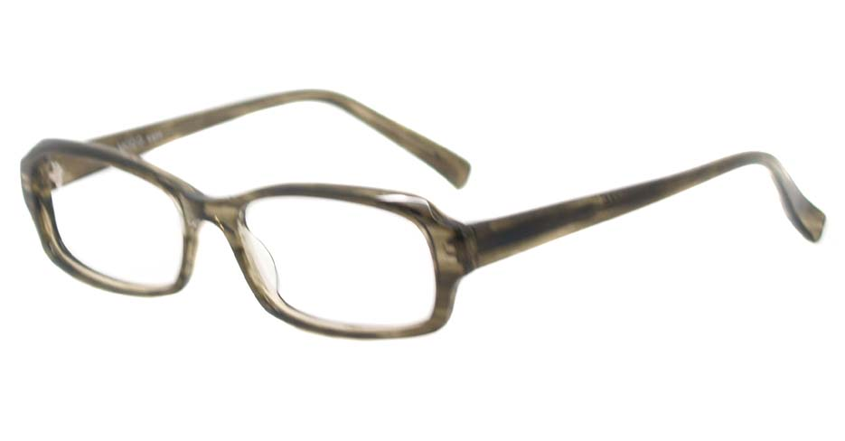 Tea acetate rectangular glasses frame HL-3024