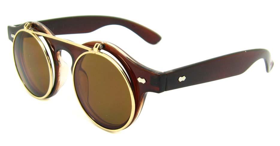 Tea blend retro round    sunglasses   YM-YX008-CS