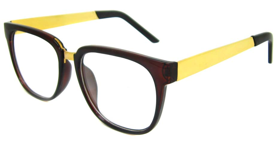 Tea with gold blend Oval retro frame BLK-FG77270-CS