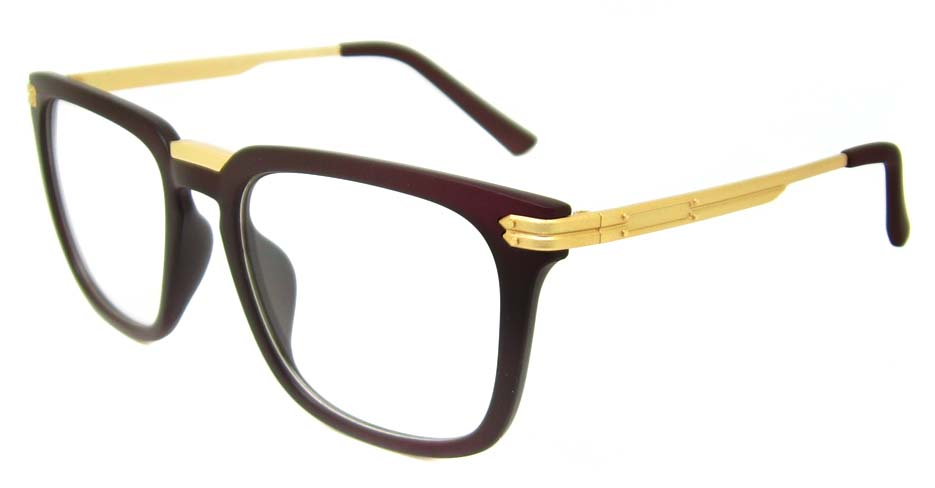 Tea with gold oval blend retro frame YM-OF1219-C2