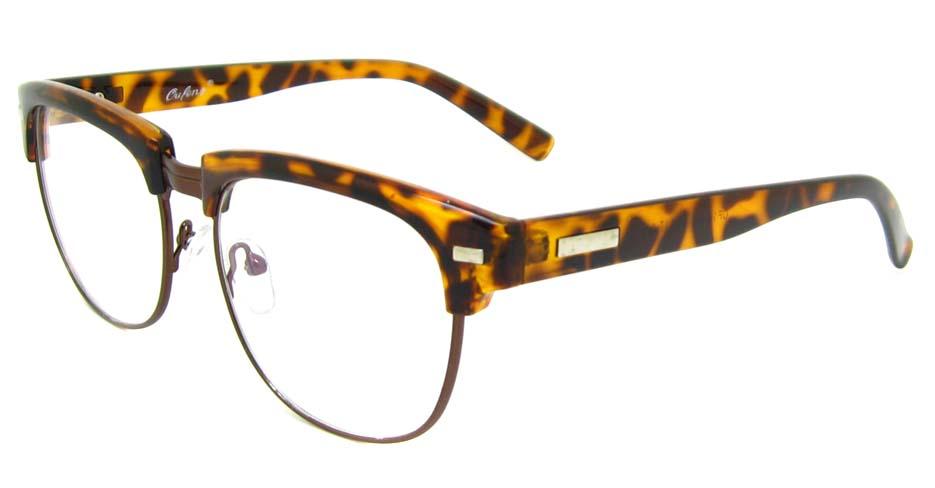 Tortoise  blend retro oval glasses frame YM-OF1849-C2