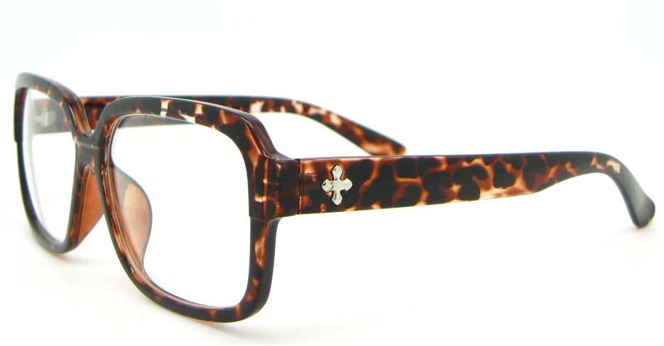 Tortoise  oval Plastic glasses frame WLH-2218-K116
