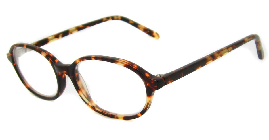 Tortoise Acetate oval glasses frame HD-WMFM4061-HM