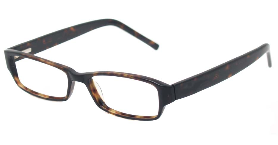 Tortoise acetate rectangular glasses frame  HL-Top