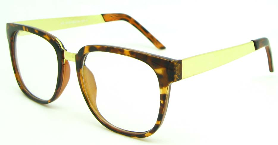 Tortoise blend oval glasses frame WLH-XN1216-GWS