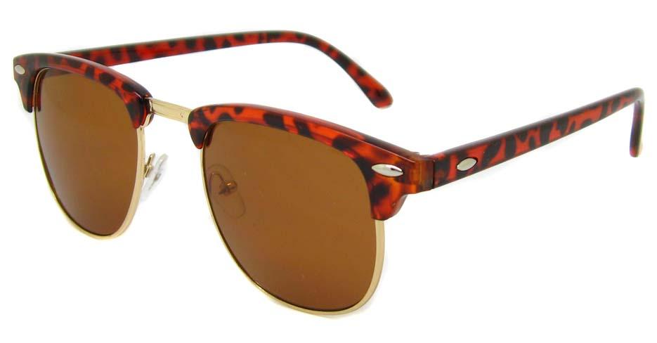 Tortoise blend oval retro glasses  LF-FG005-GWS