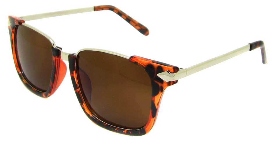 Tortoise blend oval retro sunglasses  YM-M1205-C4