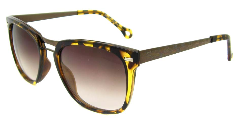 Tortoise blend oval retro sunglasses  YM-M5028-B7